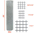 Welded Wire Mesh Galvanised Fence Aviary Rabbit Hutch Chicken Run Coop Pet 30m
