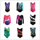 4-14 Kids Girl Ballet Dancewear Gymnastics Leotards Bodysuits Skating Costumes