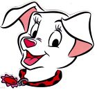 "5.5""-9"" Disney dalmatians dog wall safe sticker border cut out character"
