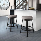 Clay Alder Home Taft Swivel Metal Counter Stool