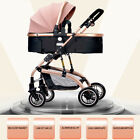 2in1 Foldable Pram Pushchair Newborn Baby Stroller Buggy Carriage Infant Travel