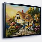Designart 'Fairy House Oil Painting' Landscape Painting Framed Canvas Print