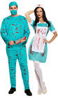 Bloody Surgeons Adults Fancy Dress Halloween Medical Undead Zombie Costumes New