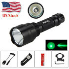 VASTFIRE 5000Lm C8 LED Flashlight Military Torch Hunting Light Mount   Switch