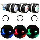 12mm 12V Car Aluminum LED Power Push Button Metal ON/OFF Switch Latch 5 Colors