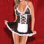 Women Sexy Role Play French Maid Lingerie Fancy Dress Costume Outfits Hallowen