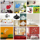 Removable 3d Acrylic Mirror Diy Home Wall Decal Vinyl Stickers Room Art Decor