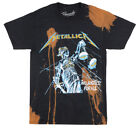 METALLICA JUSTICE FOR ALL T-SHIRT BLEACHED ROCK METAL MUSIC ALBUM TEE BRAVADO image
