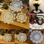 Внешний вид - Vintage Flower Cotton Yarn Round Hand Crocheted Lace Doily Mat Coasters Craft