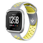 Many Designs Hollow Sports Wrist Band Strap Bangle Metal Cover For Fitbit Versa