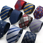 HOT Men's Necktie 6CM Striped Floral Skinny Narrow Slim Neck Tie For Wedding