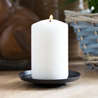 10cm Black Metal Pillar Candle Holder Plate Home Decor Candlestick Stick Church