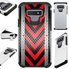 FUSIONGuard For Samsung Galaxy NOTE 9 8 S9 S8 Phone Case ARROW CROSSHATCH RED