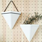 Wall Hanging Plant Flower Pots Succulent Ceramic Planter Stand Box Holder Decor