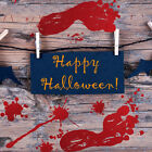 2PCS Halloween Waterproof Bloody Finger Print Home Wall Stickers Room Decor GIFT