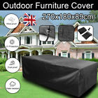 Large Garden Rectangle Outdoor Furniture Cover Patio Table Weather Protection Uk