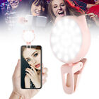 32 LED Selfie Ring Light Clip On Rechargeable Lighting for Smart Phone Samsung