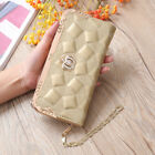 New Women Soft Leather Clutch Wallet Long PU Card Purse Handbag