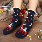 US Warm Christmas Cute Offbeat Cartoon Women Medium Stocking Socks Comfort GIFT