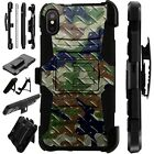 Lux-Guard For iPhone 6/7/8 PLUS/X/XR/XS Max Phone Case CROSSHATCH CAMO GREEN BRW