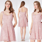 Ever-Pretty Lace Pink Strap Evening Wedding Homecoming Formal Ball Dress 04038