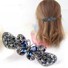 Womens Vintage Crystal Hair Clips Butterfly Flower Bobby Pin Hair Accessories