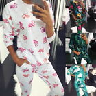 Women's Fashion Soft Suit Printing Loose Stretch Casual Home Service Sleepwear