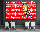Supreme Bart Simpson Logo X Hypebeast Wall Art Decor Design Canvas Print Poster
