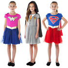 Girls Wonder Woman Supergirl Hermione Harry Potter Halloween Costume Dresses