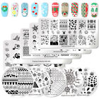 NICOLE DIARY Nail Art Stamping Plates Christmas Theme Flower  Image Tool