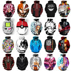 Unisex Anime 3D Printed Couples Lovers Pullover Hoodies Sweatshirt Jumper Casual