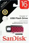 NEW SanDisk Cruzer U Clip 16GB USB Flash Drive Thumb Pen Memory Stick 16 GB LOT