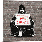 ARTCANVAS Keep Your Coins. I Want Change Meek Canvas Art Print Banksy