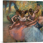 ARTCANVAS Four Ballet Dancers on Stage 1885 Canvas Art Print by Edgar Degas