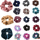 Velvet Scrunchies Hair Ties Ponytail Bun Holder Stretch Elastic Rubber Band Gift for sale  Shipping to Canada