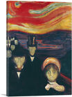 ARTCANVAS Anxiety 1894 Canvas Art Print by Edvard Munch