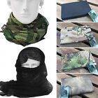 Unisex Mens Camo Army Neck Warmer Gaiter Scarf Military Tactical Face Mesh Wrap