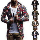 Mens Fashion Cardigan Sweaters Casual Long Coat Autumn Warm Hooded Sweaters