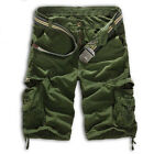 Mens Cargo Shorts Military Army Combat Camo Pants Summer Casual Beach Trousers