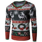 Fashion Men Christmas Print Shirt Clothing Funny T-Shirts Blouse GIFT