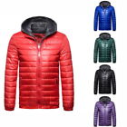 Casual Mens Winter Warm Jacket Solid Color Hooded  Jacket Cotton Coat
