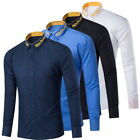 Mens Casual Shirts Long Sleeve Party Wedding Business Formal Dress T-Shirts GIFT