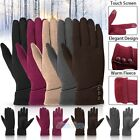 Внешний вид - Womens Touch Screen Gloves Thermal Full Finger Fleece Lined Winter Skiing Gloves