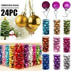 24pcs Christmas Xmas Tree Ball Bauble Home Party Ornament Hanging Decor 30mm New