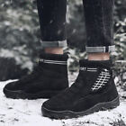 Mens High Top Velvet Lined Warm Snow Boots Thicken Outdoor Climbing Hiking Shoes