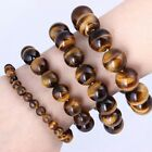 Natural Tiger Eye Stone Lucky Bless Beads Men Woman Jewelry Bracelets 6/8/10mm