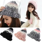 Newest Women Fashion Hat Color Matching Fashion Pointed Wool Knit Warm Hats GIFT