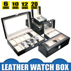 New Mens Womens Watch Box Display Case Collection Jewelry Box Storage Glass Top image