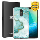 TJS For [LG Stylo 4 Plus] [LG Stylo 4] Design IMD TPU Case+Full Tempered Glass