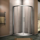 Quadrant Shower Enclosure Door 8mm EasyClean Glass Stone Tray Riser Kit+Waste